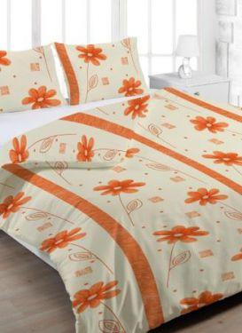 Bavlněné povlečení Anežka oranžová