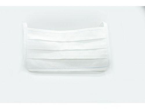 Bavlněná rouška bílá dvouvrstvá 10 ks