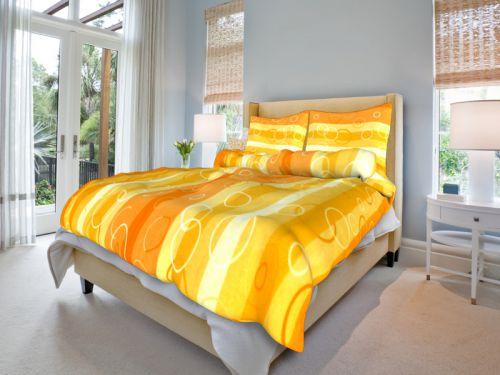 Bavlněné povlečení Kola oranžová