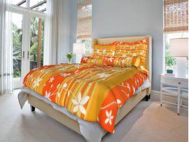 Bavlněné povlečení Liana oranžová