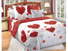 Bavlněné povlečení Valentýn - růže
