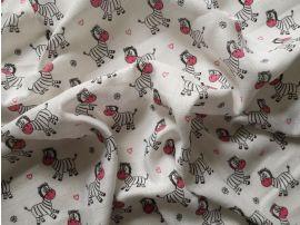 Dětská látková osuška Zebra růžová