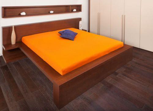 Jersey oranžová prostěradla