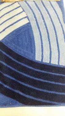 Koupelnová předložka Borneo Beige N75 modrá