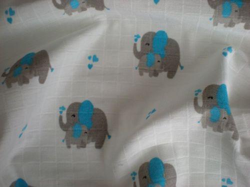 Látková plena Slon modrý