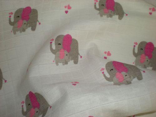 Látková plena Slon růžový