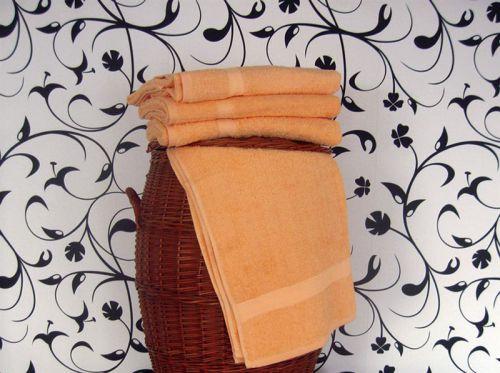 Ručník a osuška Klasik světle oranžový