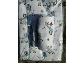 Set bavlněná osuška a plena Zebra modrá
